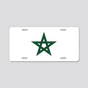 Morocco Star Aluminum License Plate