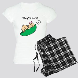 Twin Boy and Girl Women's Light Pajamas