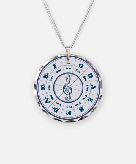 Blue Circle of Fifths Necklace