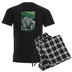 Snow Leopard Men's Dark Pajamas