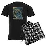 Temple Lion Men's Dark Pajamas