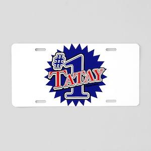 Number 1 Tatay Aluminum License Plate