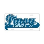 Pinoy America Aluminum License Plate