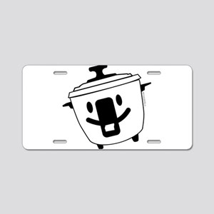 The Happy Rice Cooker Aluminum License Plate