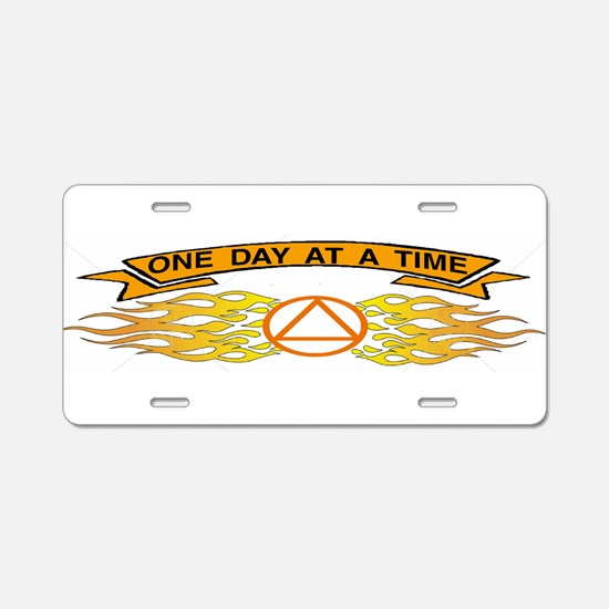 ONE DAYAT A TIME ALuminum License Plate