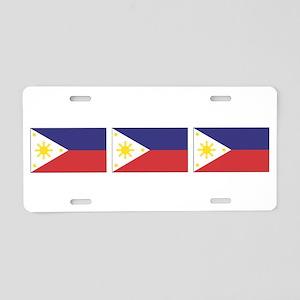 Philippine Flags Aluminum License Plate