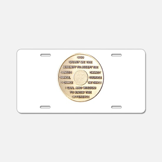 SERENITY COIN Aluminum License Plate