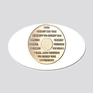 SERENITY COIN 22x14 Oval Wall Peel