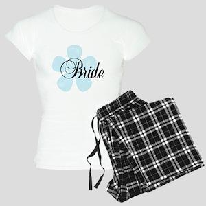 Blue Flower Bride Women's Light Pajamas