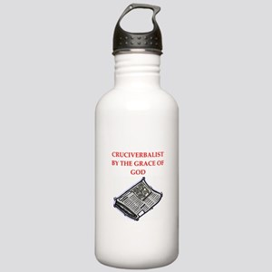 crossword puzzle Stainless Water Bottle 1.0L