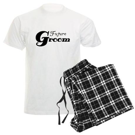 Future Groom Black Men's Light Pajamas