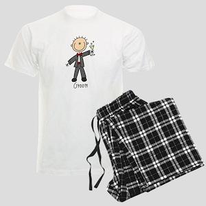 Stick Figure Groom Men's Light Pajamas
