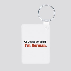 I'm German Aluminum Photo Keychain