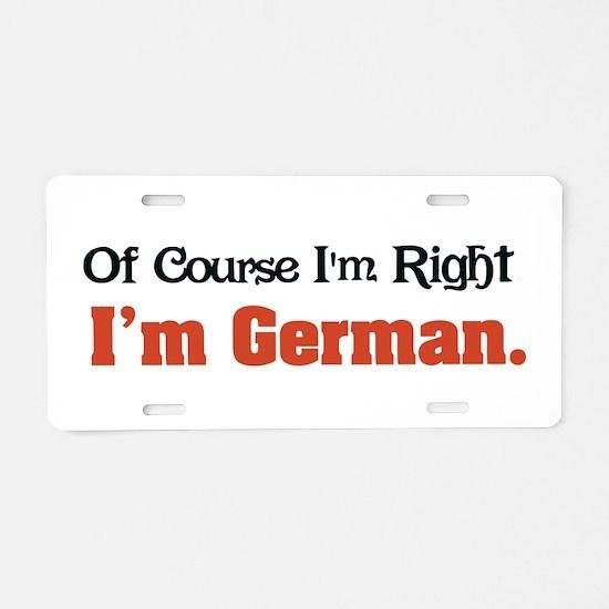 I'm German Aluminum License Plate