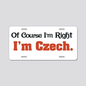 I'm Czech Aluminum License Plate