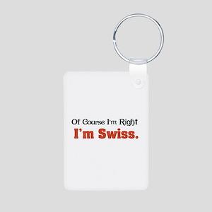 I'm Swiss Aluminum Photo Keychain