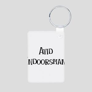 Avid Indoorsman Aluminum Photo Keychain