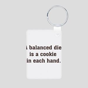 Balanced Diet Aluminum Photo Keychain