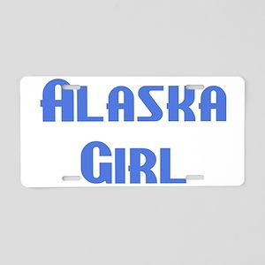 Alaska Girl Aluminum License Plate