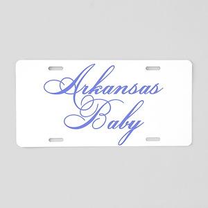 Arkansas Baby (blue) Aluminum License Plate