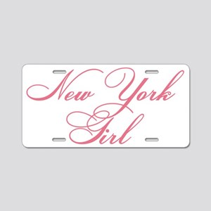 New York Girl Aluminum License Plate