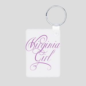 Virginia Girl Aluminum Photo Keychain