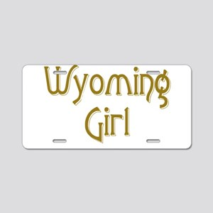 Wyoming Girl Aluminum License Plate