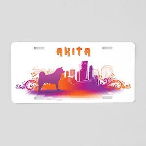 """City"" Akita Aluminum License Plate"
