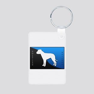 American Bulldog Aluminum Photo Keychain