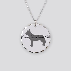 Australian Cattle Dog Necklace Circle Charm