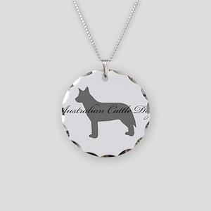 Australian Cattle Dog Necklace Circle Charm