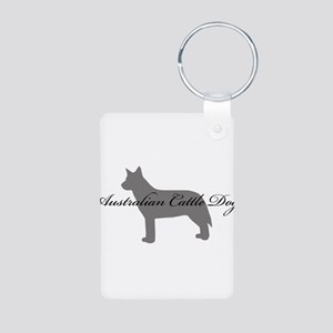 Australian Cattle Dog Aluminum Photo Keychain