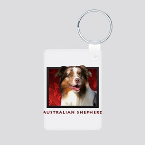 Australian Shepherd Aluminum Photo Keychain
