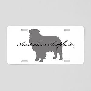 Australian Shepherd Aluminum License Plate