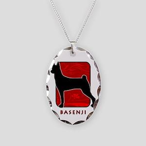 Basenji Necklace Oval Charm