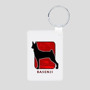 Basenji Aluminum Photo Keychain