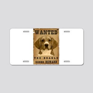 """Wanted"" Beagle Aluminum License Plate"
