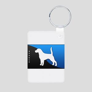 Beagle Aluminum Photo Keychain