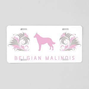 """Elegant"" Belgian Malinois Aluminum License Plate"