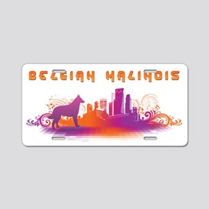 """City"" Belgian Malinois Aluminum License Plate"