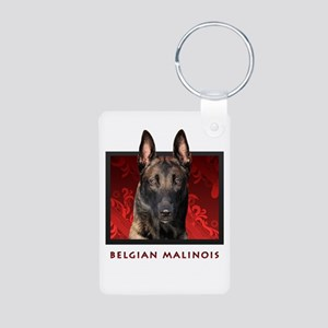 Belgian Malinois Aluminum Photo Keychain