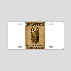 """Wanted"" Belgian Malinois Aluminum License Plate"