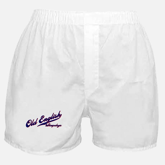 Old English Sheepdogs SCRIPT Boxer Shorts