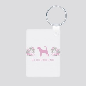 """""""Elegant"""" Bloodhound Aluminum Photo Keychain"""