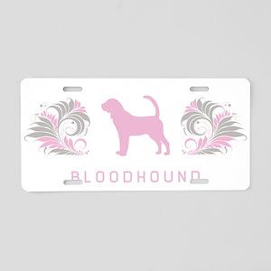 """Elegant"" Bloodhound Aluminum License Plate"