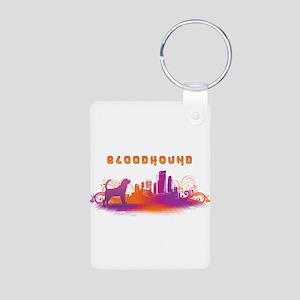 """City"" Bloodhound Aluminum Photo Keychain"