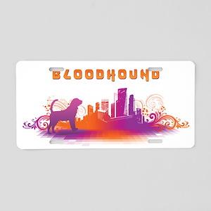 """City"" Bloodhound Aluminum License Plate"