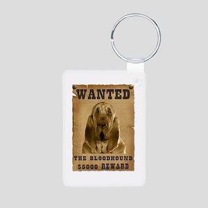 """Wanted"" Bloodhound Aluminum Photo Keychain"