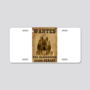 """""""Wanted"""" Bloodhound Aluminum License Plate"""