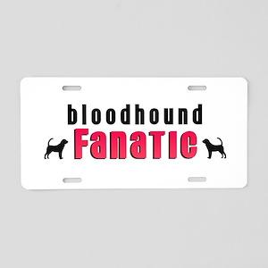 Bloodhound Fanatic Aluminum License Plate